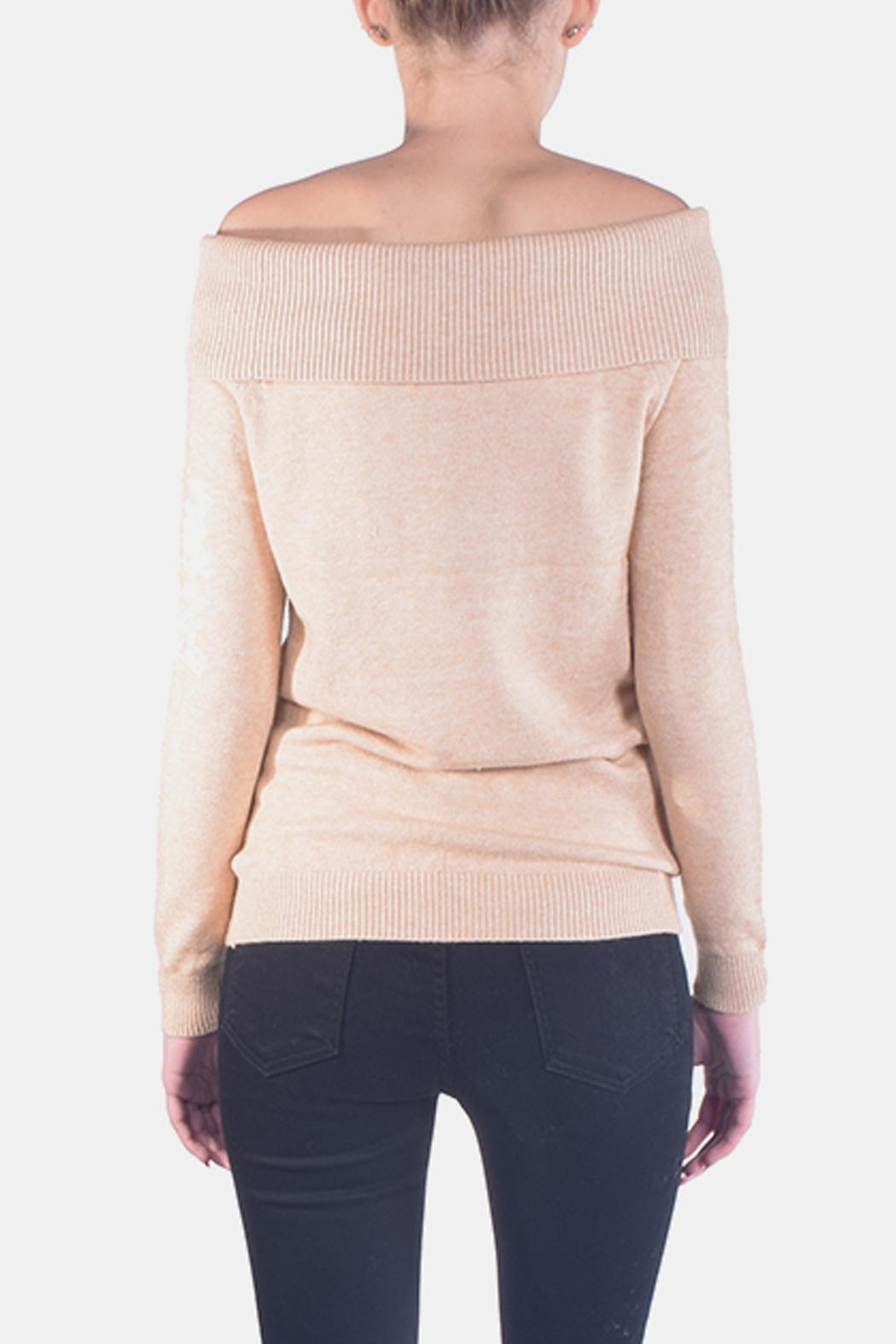 Lumiere Delicate Off-The-Sholder Sweater - Back Cropped Image