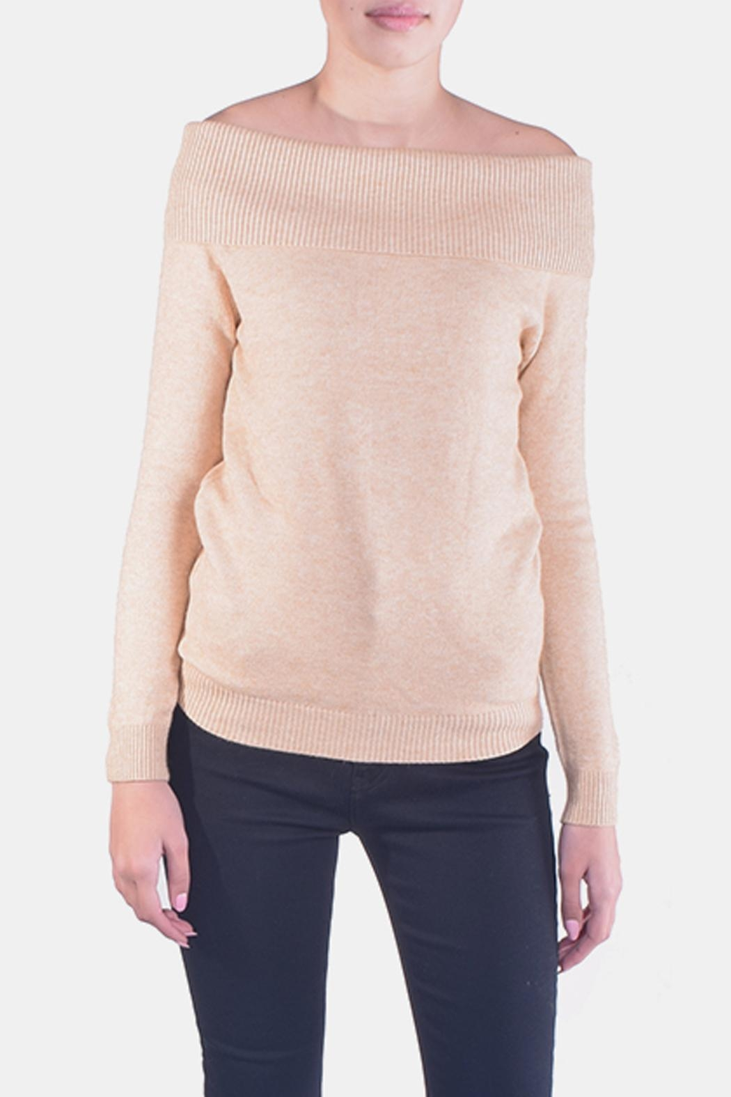 Lumiere Delicate Off-The-Sholder Sweater - Main Image