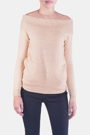 Lumiere Delicate Off-The-Sholder Sweater - Front cropped
