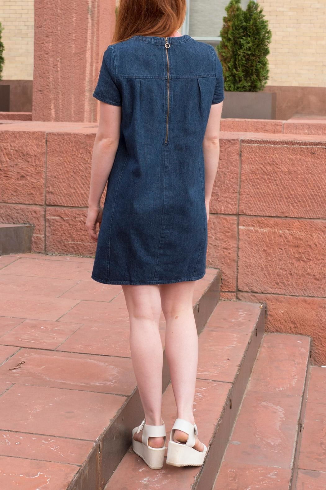 Lumiere Denim Shift Dress - Front Full Image