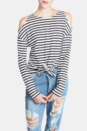 Lumiere Cold Shoulder Shirt - Front cropped