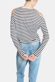 Lumiere Cold Shoulder Shirt - Back cropped