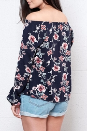 Lumiere Floral Off Shoulder Blouse - Side cropped