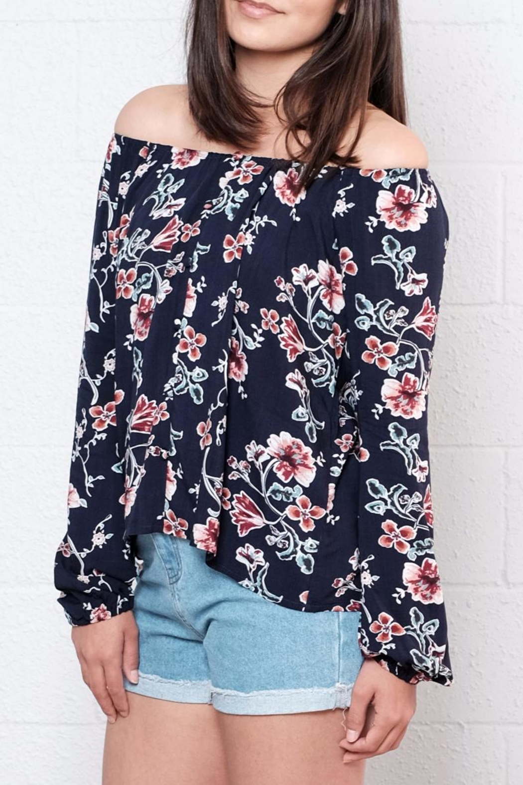 Lumiere Floral Off Shoulder Blouse - Front Full Image