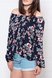 Lumiere Floral Off Shoulder Blouse - Front full body