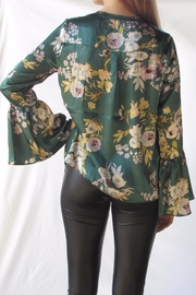 Lumiere Floral Satin Blouse - Front full body