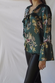 Lumiere Floral Satin Blouse - Back cropped