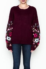 Lumiere Floral Sleeve Sweater - Front full body