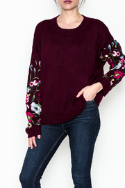 Lumiere Floral Sleeve Sweater - Front cropped