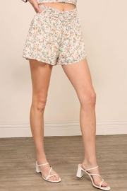 Lumiere Floral Smocking Detail Shorts - Other