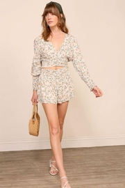 Lumiere Floral Smocking Detail Shorts - Product Mini Image