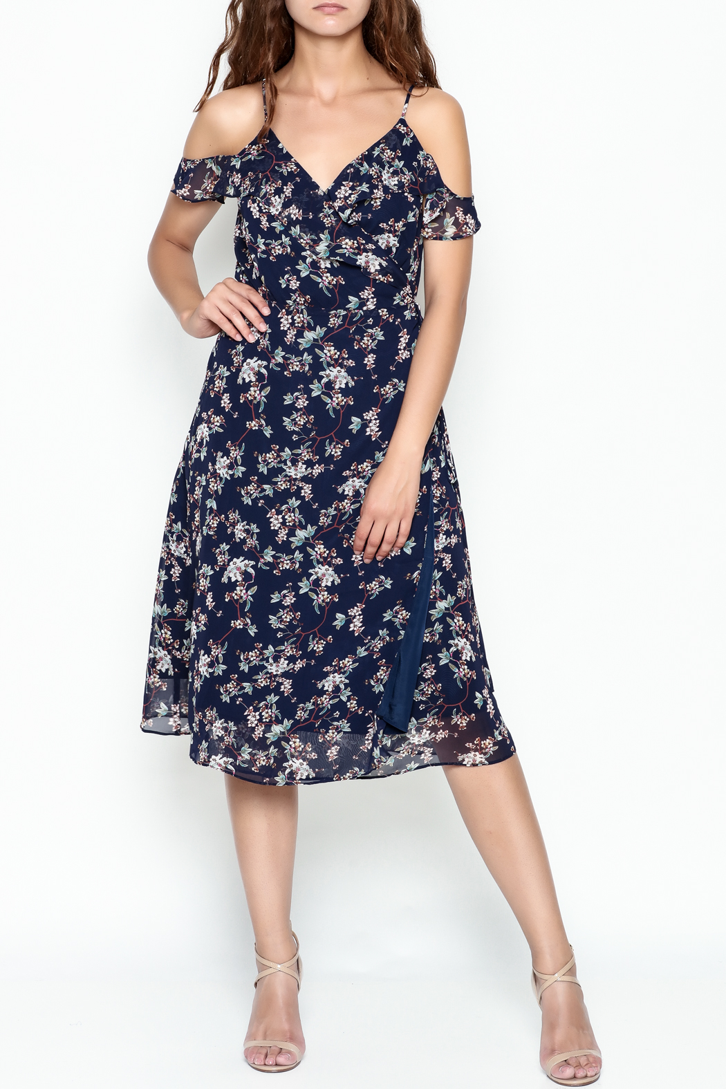 Lumiere Floral Wrap Dress - Front Cropped Image