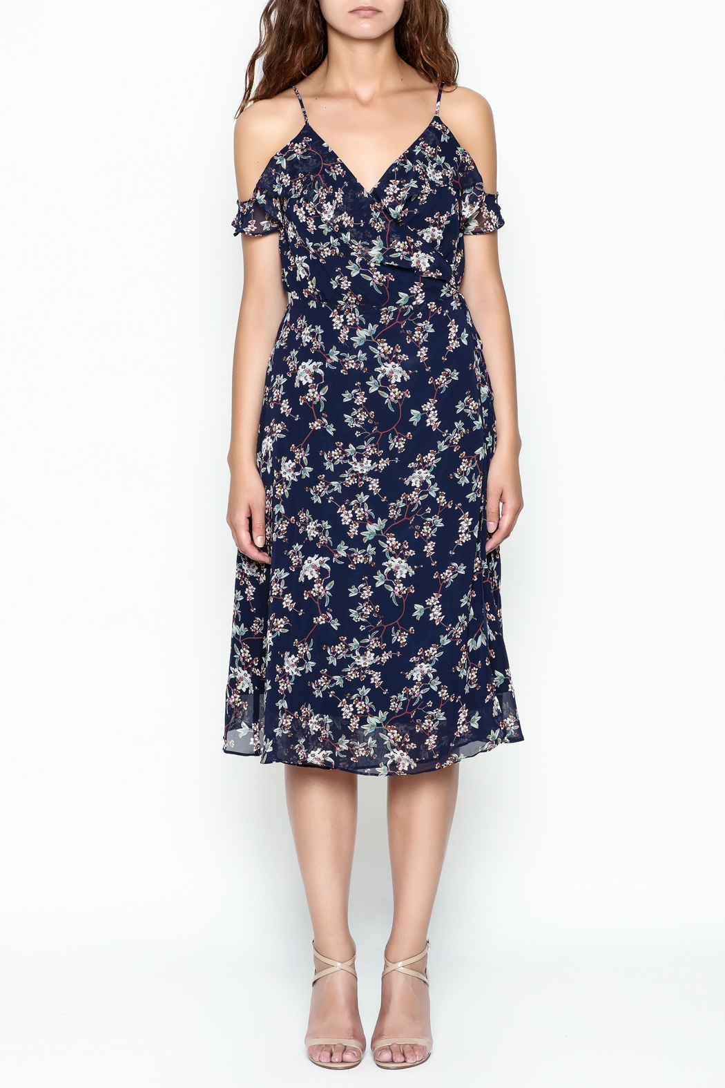 Lumiere Floral Wrap Dress - Front Full Image