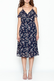 Lumiere Floral Wrap Dress - Front full body