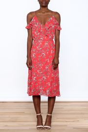 Lumiere Floral Midi Wrap Dress - Front cropped