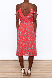 Lumiere Floral Midi Wrap Dress - Back cropped