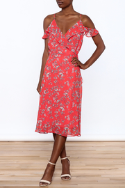Lumiere Floral Midi Wrap Dress - Product Mini Image