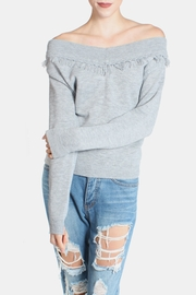 Lumiere Fringe Cropped Sweater - Product Mini Image