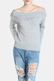 Lumiere Fringe Cropped Sweater - Front full body