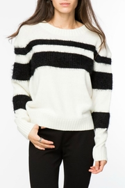 Lumiere Fur Striped Sweater - Product Mini Image