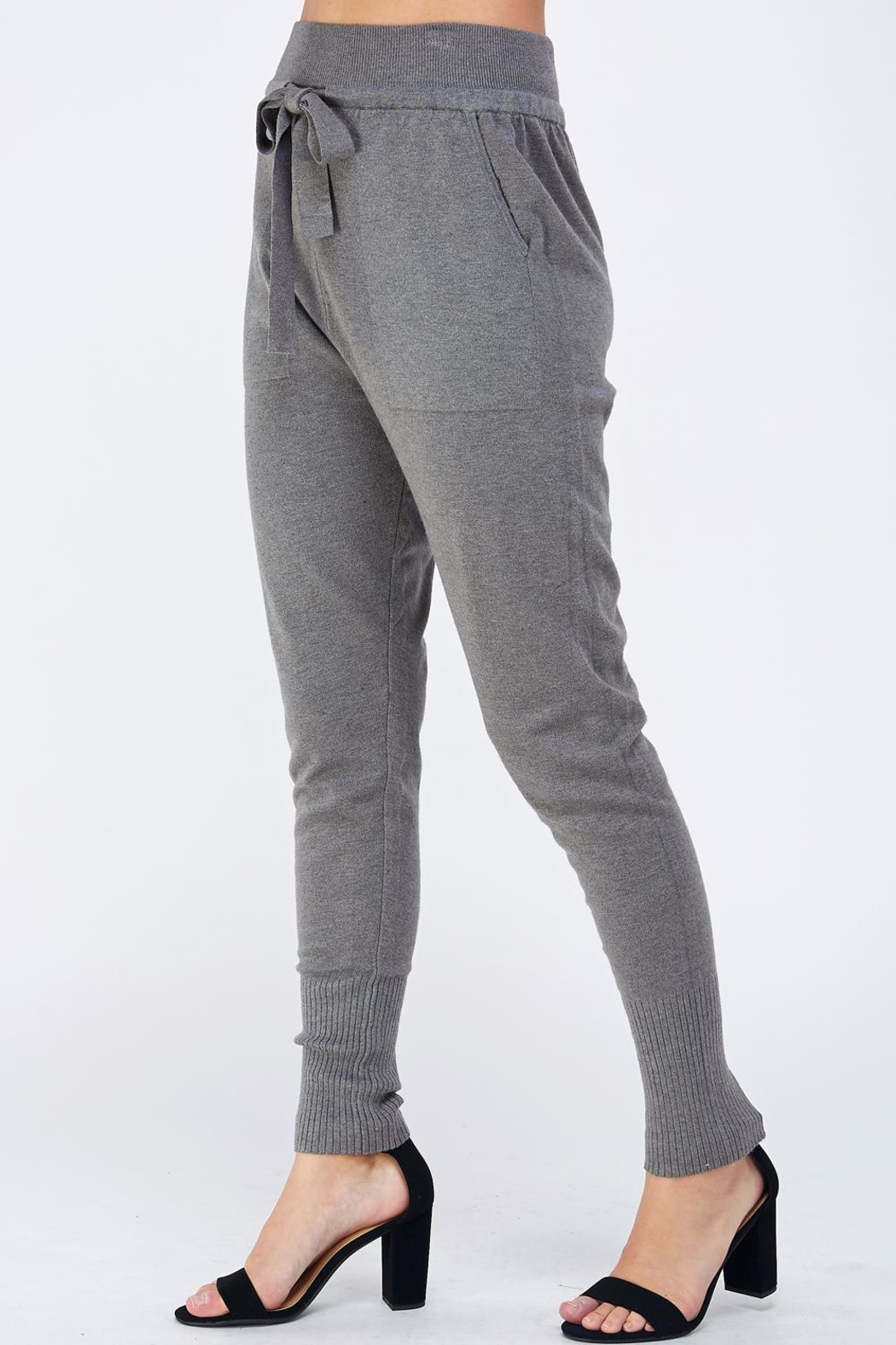 Lumiere Grey Slim Joggers - Front Full Image