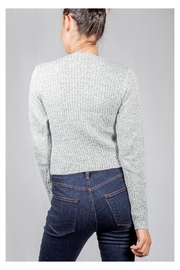 Lumiere Grey Wrap Sweater-Top - Side cropped