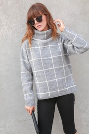 Lumiere Grid-Print Turtleneck Sweater - Other