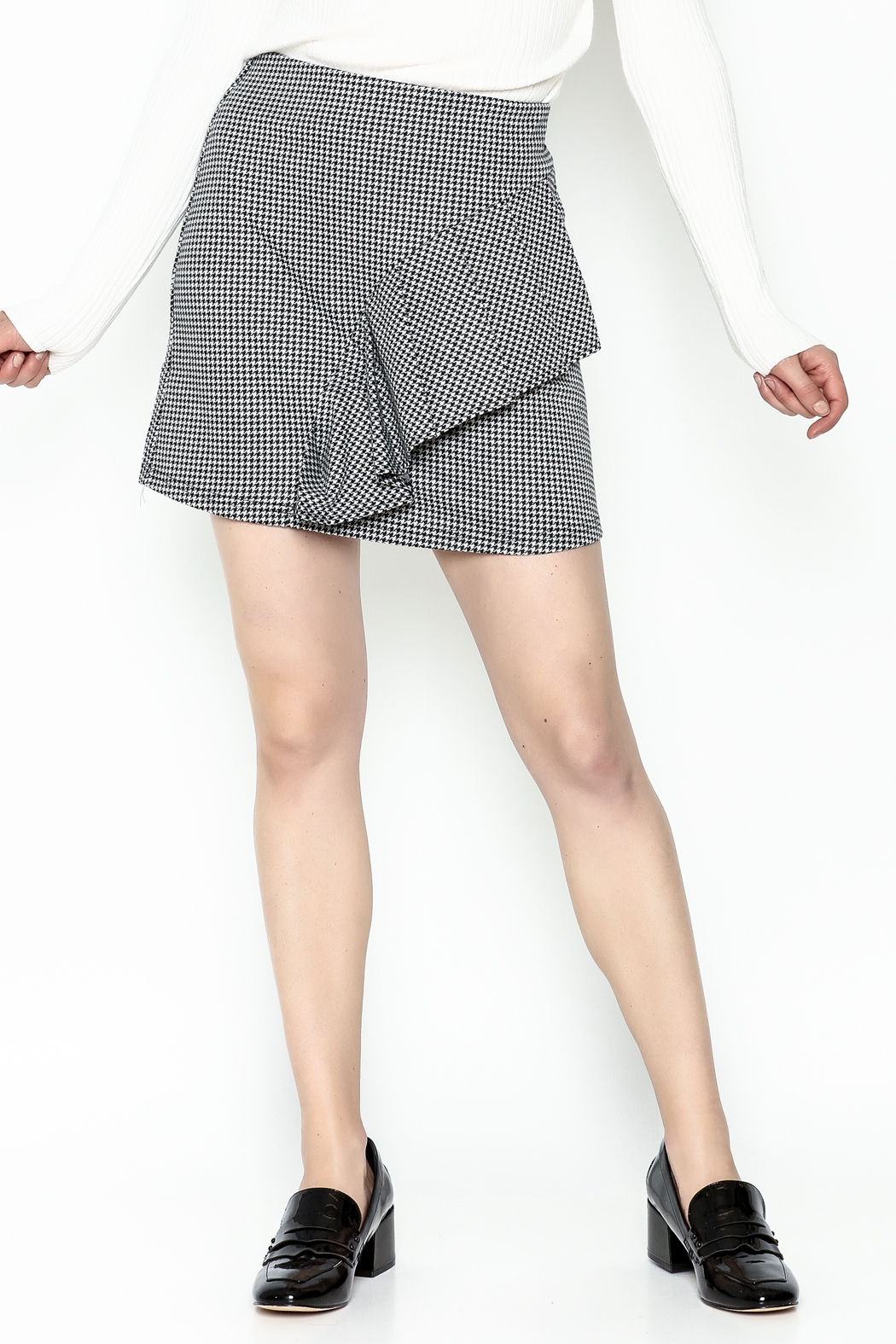 Lumiere Houndstooth Skirt - Main Image