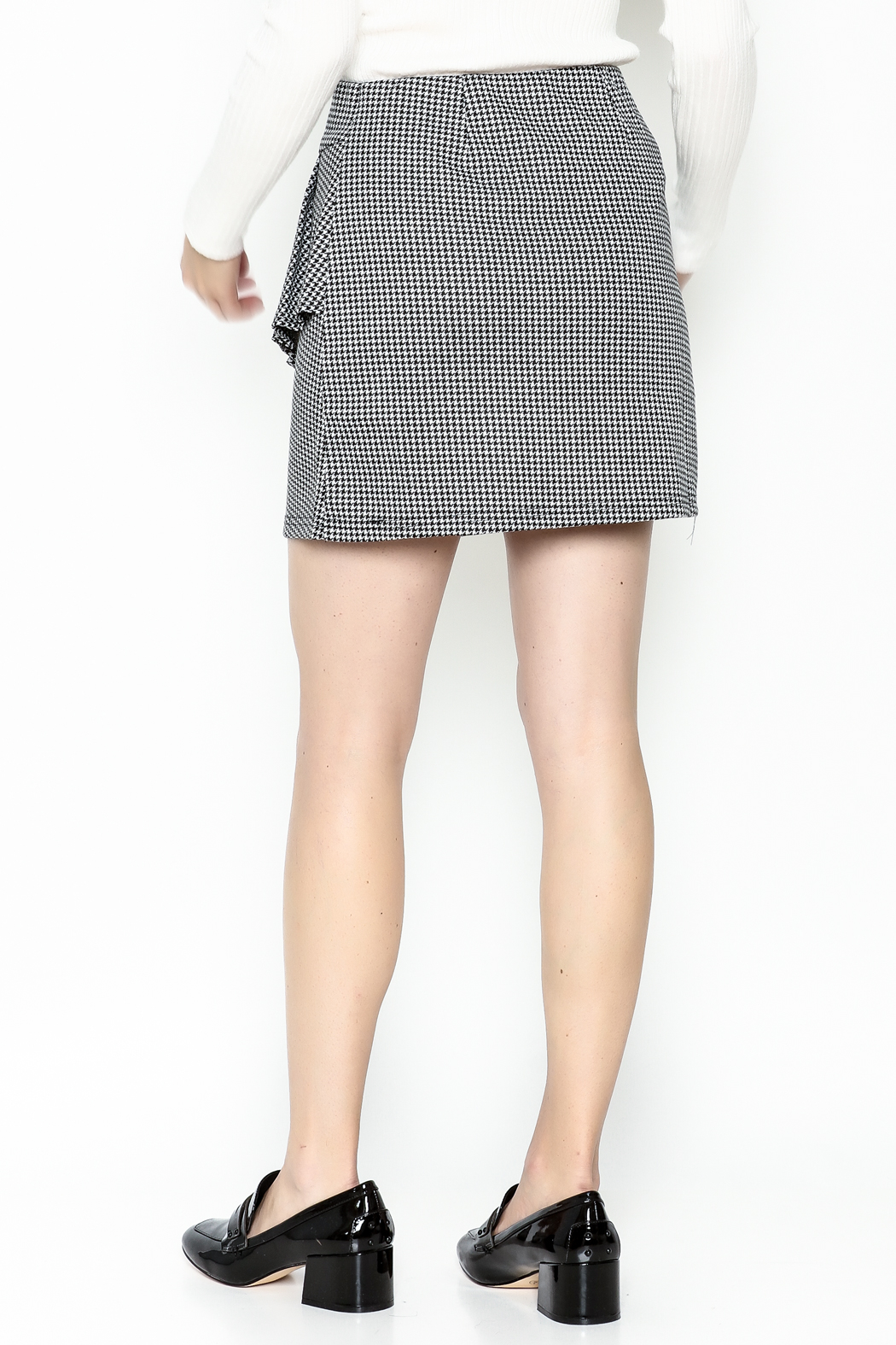 Lumiere Houndstooth Skirt - Back Cropped Image