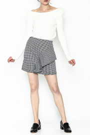 Lumiere Houndstooth Skirt - Side cropped