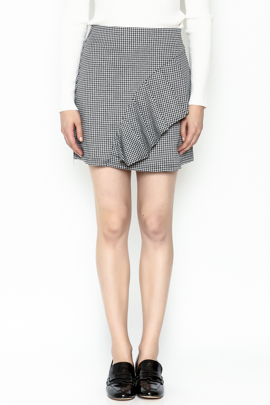 Lumiere Houndstooth Skirt - Front Full Image