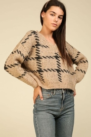 Lumiere Knit Check Sweater - Side cropped