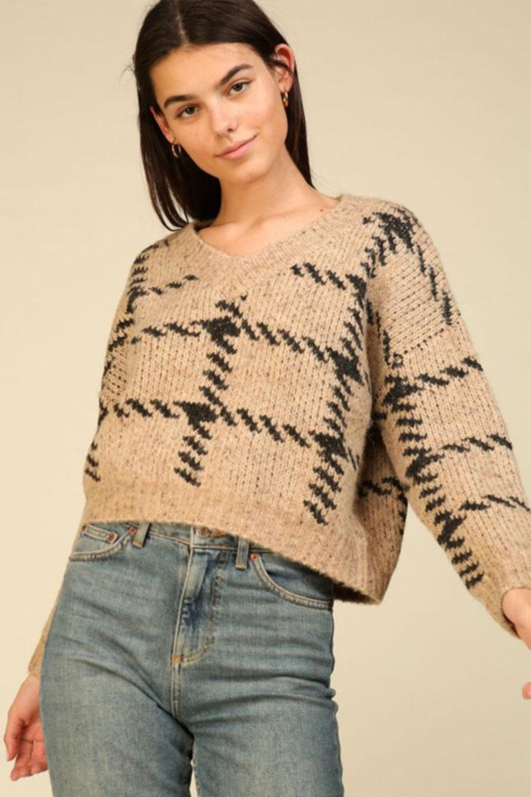 Lumiere Knit Check Sweater - Main Image