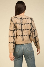 Lumiere Knit Check Sweater - Front full body