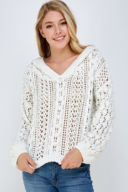 Lumiere Knitted Hooded Sweater - Product Mini Image