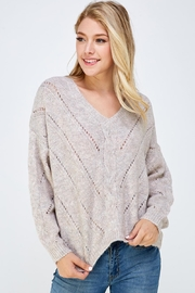 Lumiere Knitted v-Neck Sweater - Product Mini Image