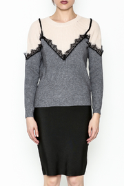 Lumiere Lace Trim Top - Front full body