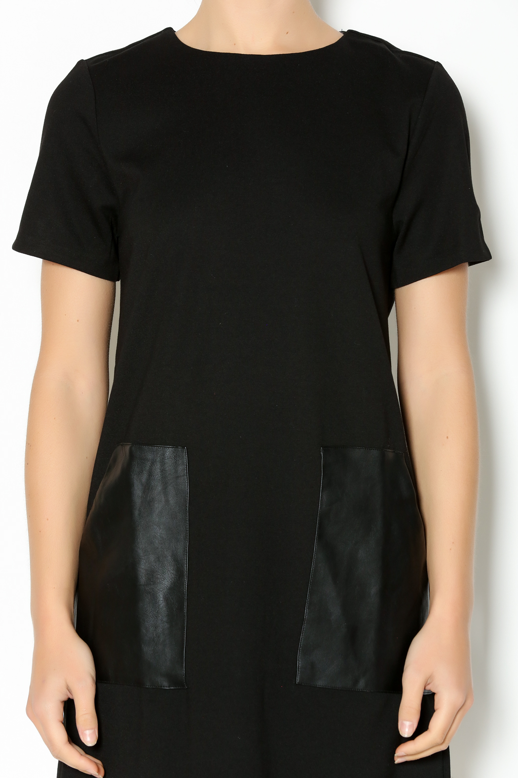 Lumiere Leatherette Pocket Shift Dress From Boston By