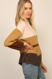 Lumiere Long Sleeve Colorblock Knitted  Sweater - Other