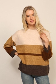 Lumiere Long Sleeve Colorblock Knitted  Sweater - Side cropped
