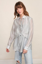 Lumiere Long Sleeve Woven Button Down With Front Tie - Other