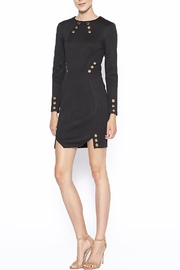 Lumiere Lumier Gold Eyelets Dress - Front cropped