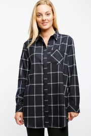 Lumiere Navy Plaid Shirt - Product Mini Image