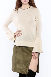 Lumiere Bell Sleeved Oatmeal Sweater - Product Mini Image