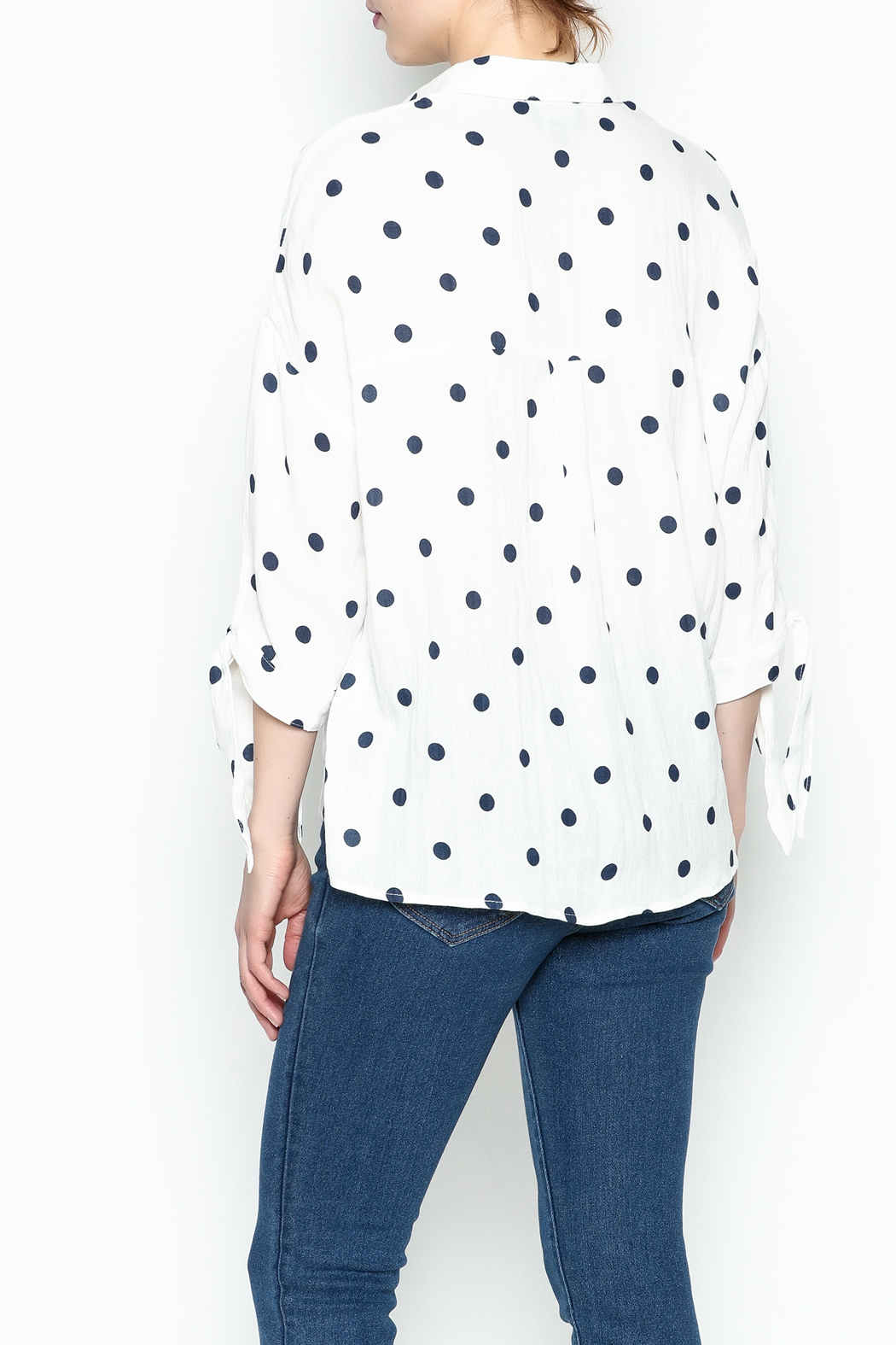 Lumiere Polka Dot Top - Back Cropped Image
