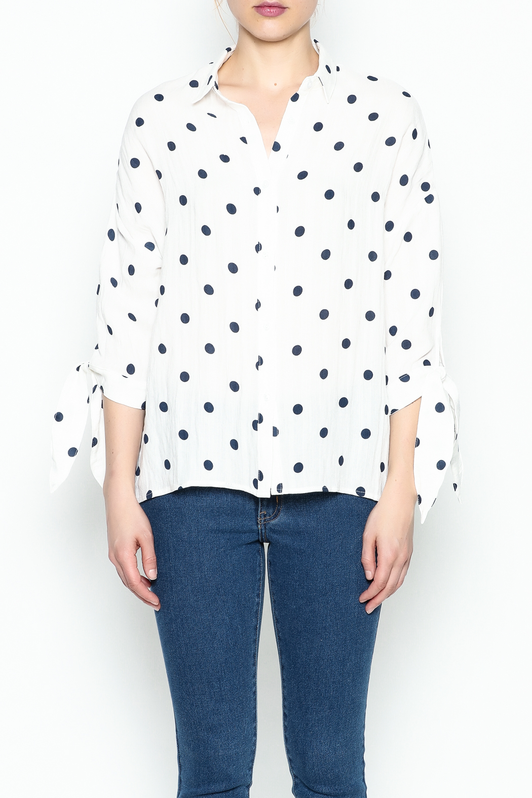 Lumiere Polka Dot Top - Front Full Image