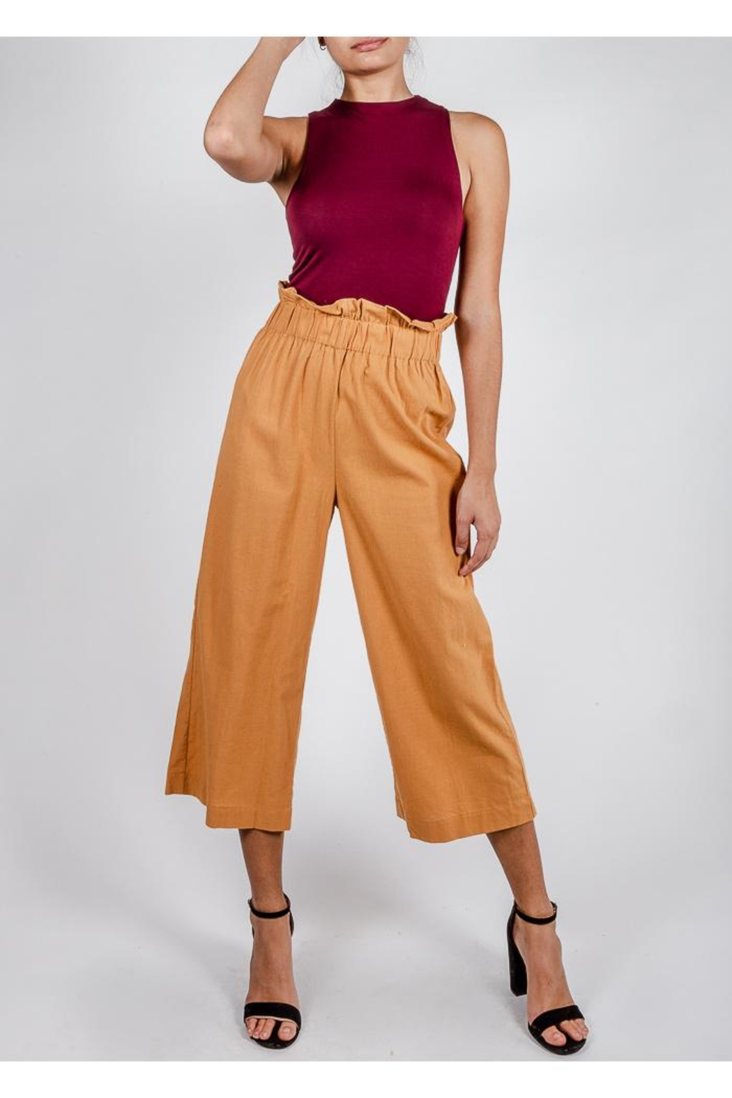 Lumiere Poppy Paperbag-Waist Pant - Front Full Image