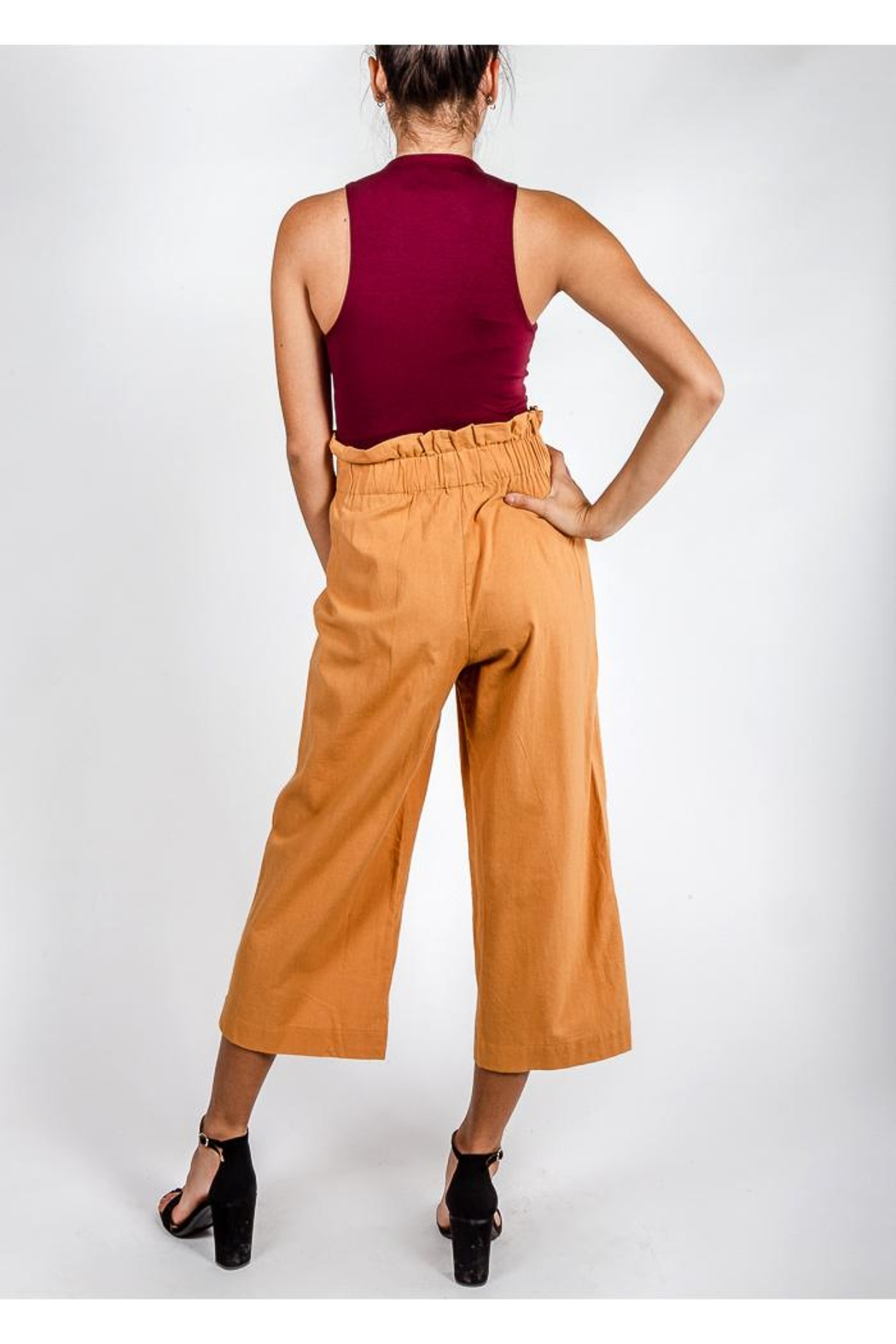 Lumiere Poppy Paperbag-Waist Pant - Side Cropped Image
