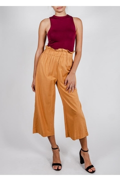 Lumiere Poppy Paperbag-Waist Pant - Product List Image