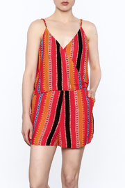 Lumiere Orange Printed Sleeveless Romper - Product Mini Image